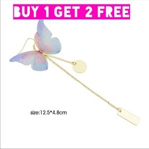 Wonderful Butterfly Gold Plated Earrings