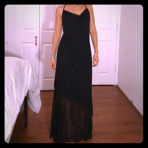 Classy Sequined Black Evening Gown
