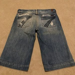 7 for all mankind cropped distressed denim