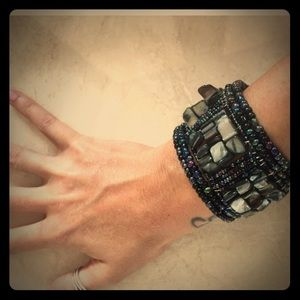 Gorgeous goddess rock cluster bead bracelet