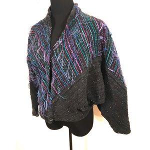 Adorable 80's Southwestern batwing shag jacket