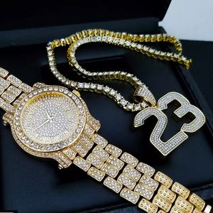 MENS ICED OUT WATCH SET