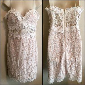 F21 white lace dress