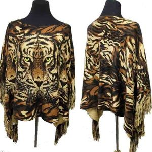 Sweaters - ☝️THIS TIGER PANCHO☝️ oh Yeah! Welcome FALL 🍂🍂🍂