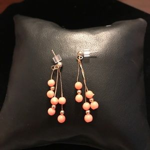 14K Yellow Gold & Coral Earrings
