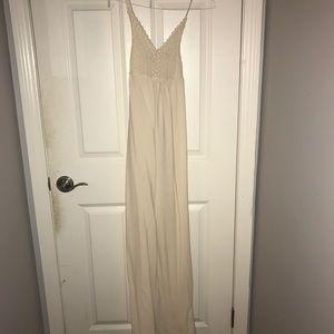 Long Flowy Crochet Maxi Dress