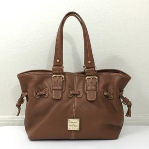 DOONEY & BOURKE Brown Leather Satchel Purse