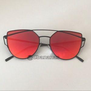 Red Orange Cateye Sunglasses