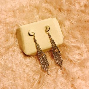 NWOT Rhinestone Dangle Earrings.