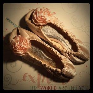Pink Rose Ballet Flats