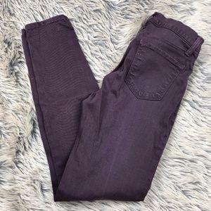 J BRAND Super Skinny Stretch Legging Jeans Plum 26