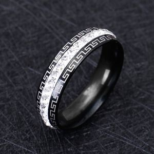 Jewelry - COMING SOON!! SS Black & Crystal Wedding Ring