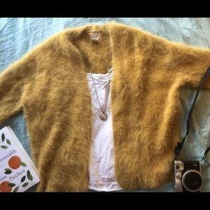 NWOT angora sweater cardigan