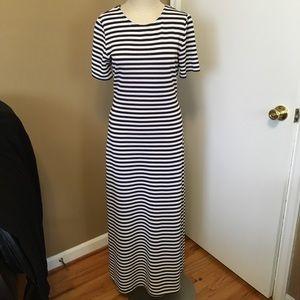 vintage striped bodycon dress