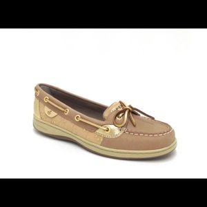 Sperry Topsider Angelfish Linen Gold Eyelet