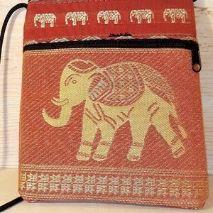 Elephant Boho Small Coin Purse Tribal Bag Vintage