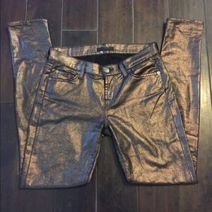 7 for all Mankind Metallic Skinny Jeans Size 26