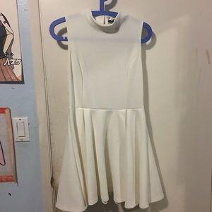 White High Collar F21 Dress