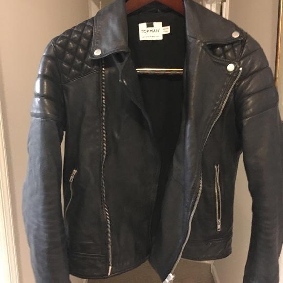 5a7c07706 Topman genuine leather jacket; size S!
