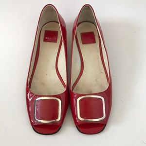 AUTHENTIC Dolce Vita Red Peep Toe Flats