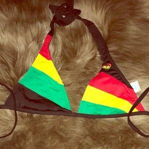 ROXY Rasta Print Bikini Set