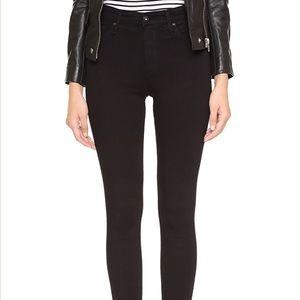 AG Farrah black high rise skinny jeans