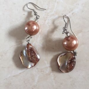 Gorgeous goddess abalone dangle earrings