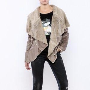Love Stitch Annelise Micro Suede Drape Jacket