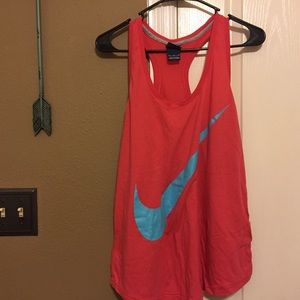 Hot pink Nike workout tee