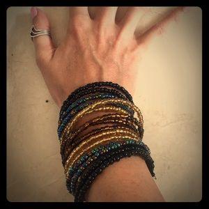 Gorgeous goddess layered seed bead cuff