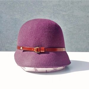 Italian Wool Cloche Bell Hat Cap Bettina Vintage