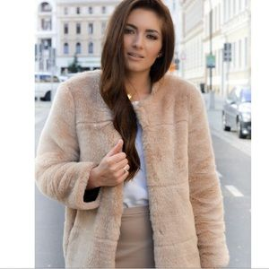 Zara Ultra Plush Glam Faux Fur Coat