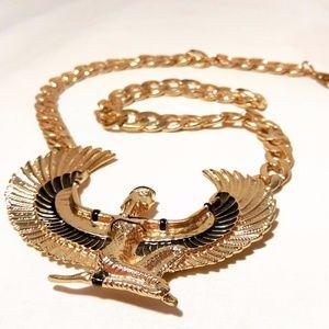 Golden Retro Phoenix Chain Necklace Vintage Retro