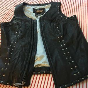 Harley-Davidson lambskin studded vest