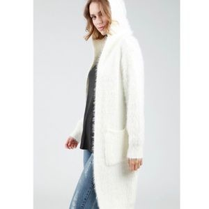 Sweaters - Aspen Hooded Cardigan-White