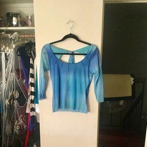 Weston Wear blue tie dye blouse Medium