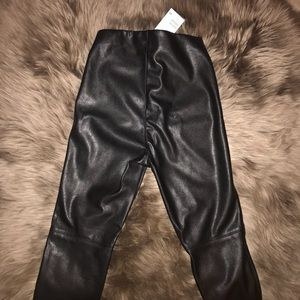 H&M Vegan Leather Leggings