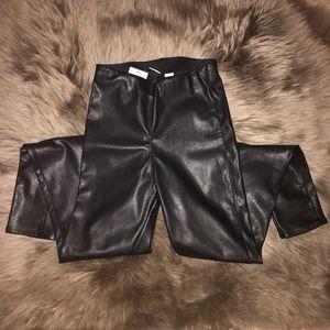 H&M Vegan Leather Leggings