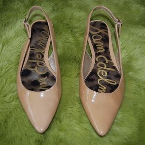 Sam Edelman Ionia Leather Slingback Flats 7.5