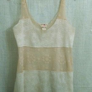 Intimately Free People Cream Colored Lace Tank-Lg