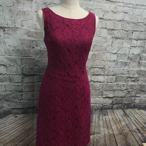 Pink Lace Dress Banana Republic SZ 12