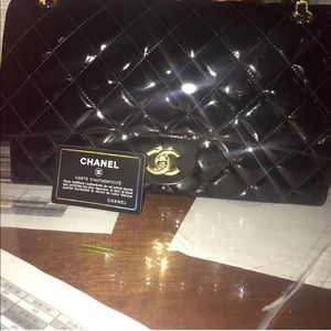 Chanel patent leather maxi