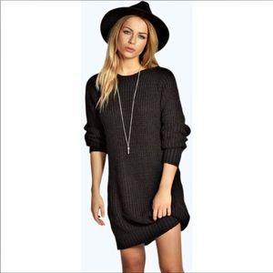 Lexi soft knit jumper dress black