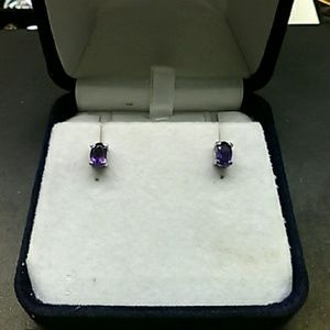 1.75cts Genuine Amethyst 316L Stainless Steel