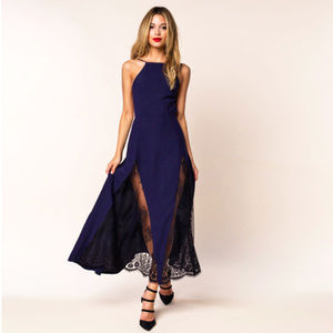 """NBD """"Close To You"""" maxi dress in Navy -- BNWT"""