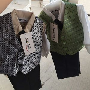 Two 12 month baby boy suit sets