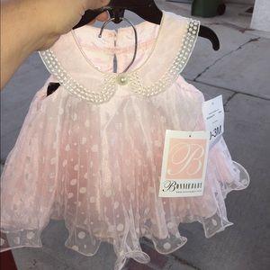 NWT Bonnie baby pink dress 0-3 month
