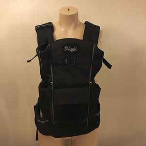 Snugli Black Deluxe Baby Carrier Front Pack Bag