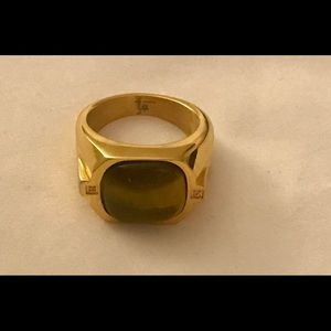 Men's Tigers Eye Gold Plated Ring -Gorgeous!