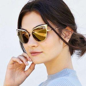 Quay Australia Lana Cat Eye Sunglasses in Gold